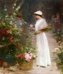 victor gabriel gilbert picking flowers painting 24043