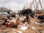 sorting the fish by victor gabriel gilbert painting