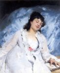 victor gabriel gilbert watercolor paintings - sweet repose by victor gabriel gilbert