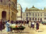 victor gabriel gilbert the flower seller place de l opera paris art