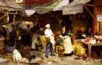 victor gabriel gilbert acrylic paintings - the maubeuge market by victor gabriel gilbert
