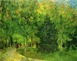 diane millsap art - a lane in the public garden at arles by vincent van gogh
