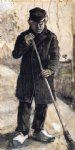 vincent van gogh a man with a broom painting