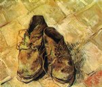 a pair of shoes vi by vincent van gogh painting