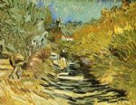 a road at saint by vincent van gogh painting