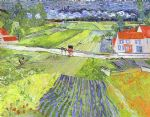 vincent van gogh a road in auvers after the rain art