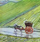 vincent van gogh a road in auvers after the rain detail art