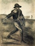 a sower after millet by vincent van gogh painting
