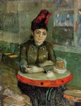 agostina sagatori sitting in the cafe du tambourin by vincent van gogh painting