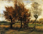 vincent van gogh autumn landscape with four trees posters
