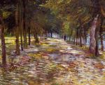 avenue in the voyer d argenson park at asnieres by vincent van gogh watercolor paintings