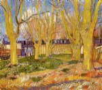 vincent van gogh avenue of plane trees near arles station paintings
