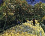 flower print - avenue with flowering chestnut trees by vincent van gogh