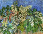 blossoming chestnut branches by vincent van gogh paintings