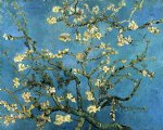 vincent van gogh branches with almond blossom painting