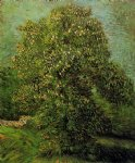 chestnut tree in bloom v by vincent van gogh paintings