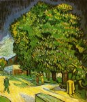 vincent van gogh chestnut trees in bloom v art
