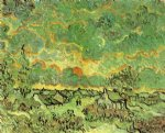 vincent van gogh cottages and cypresses reminiscence of the north painting-23406