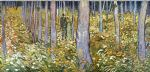 forest famous paintings - couple walking in the forest by vincent van gogh