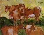 cow posters - cows by vincent van gogh