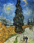 vincent van gogh cypress against a starry sky painting 23412