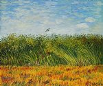 vincent van gogh edge of a wheat field with poppies and a lark painting 23422