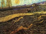 enclosed field with poughman by vincent van gogh painting
