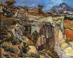 entrance to a quarry near saint by vincent van gogh painting