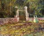 entrance to the park at voyer by vincent van gogh paintings