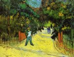 entrance to the public park in arles by vincent van gogh painting