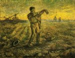 evening the end of the day after millet by vincent van gogh painting