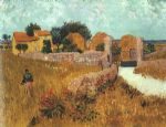 farm watercolor paintings - farmhouse in provence by vincent van gogh