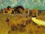 house art - farmhouse in provence by vincent van gogh