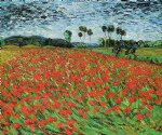field of poppies by vincent van gogh painting