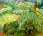 vincent van gogh field with poppies ii art
