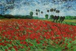 vincent van gogh field with poppies iii painting 23451