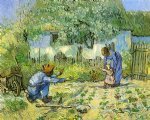 vincent van gogh first steps after millet painting