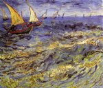 vincent van gogh fishing boats at sea painting