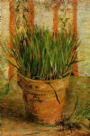 vincent van gogh flowerpot with chives painting