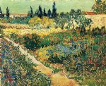 handmade art - garden with flowers ii by vincent van gogh