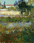 flowers posters - garden with flowers by vincent van gogh