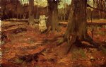 vincent van gogh girl in white in the woods painting