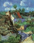 houses at auvers by vincent van gogh painting