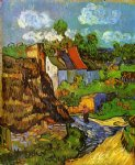vincent van gogh houses in auvers v painting-23489