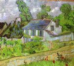 vincent van gogh houses in auvers painting-23490