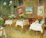 vincent van gogh interior of a restaurant painting