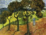 vincent van gogh landscape with trees and figures painting 23521
