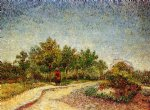 vincent van gogh lane in voyer d argenson park at asnieres painting