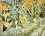 vincent van gogh large plane trees painting-23527
