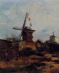 le moulin de blute by vincent van gogh watercolor paintings